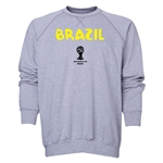 Brazil 2014 FIFA World Cup Brazil(TM) Men's Core Crewneck Sweatshirt (Grey)