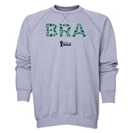 Brazil 2014 FIFA World Cup Brazil(TM) Men's Elements Crewneck Sweatshirt (Grey)