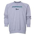 Australia 2014 FIFA World Cup Brazil(TM) Men's Palm Crewneck Sweatshirt (Grey)