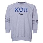 South Korea 2014 FIFA World Cup Brazil(TM) Men's Elements Crewneck Sweatshirt (Grey)