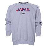 Japan 2014 FIFA World Cup Brazil(TM) Men's Palm Crewneck Sweatshirt (Grey)