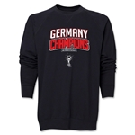 Germany 2014 FIFA World Cup Brazil(TM) Champions Logotype Crewneck Fleece (Black)