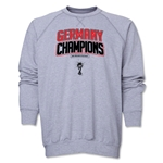 Germany 2014 FIFA World Cup Brazil(TM) Champions Logotype Crewneck Fleece (Grey)