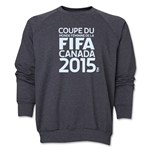 FIFA Women's World Cup Canada 2015(TM) French Logotype Crewneck Fleece (Dark Grey)