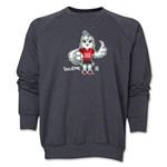 FIFA Women's World Cup Canada 2015(TM) Mascot Pose 1 Crewneck Fleece (Dark Grey)