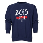 USA Women's World Cup Champions Crewneck Fleece (Navy)