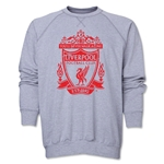 Liverpool Distressed Crest Crewneck Fleece (Gray)