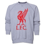 Liverpool Liver Bird Distressed Crewneck Fleece (Gray)
