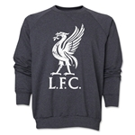 Liverpool Liver Bird Distressed Crewneck Fleece (Dark Gray)