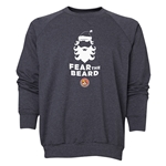 FC Santa Claus Fear the Beard Men's Crewneck Fleece (Dark Grey)