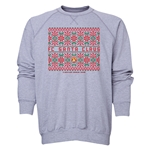 FC Santa Claus Christmas Sweater Men's Crewneck Fleece (Gray)