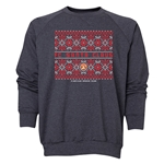 FC Santa Claus Christmas Sweater Men's Crewneck Fleece (Dark Grey)