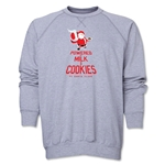 FC Santa Claus Milk and Cookies Men's Crewneck Fleece (Grey)
