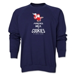 FC Santa Claus Milk and Cookies Men's Crewneck Fleece (Navy)