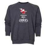 FC Santa Claus Milk and Cookies Men's Crewneck Fleece (Dark Grey)