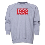 FC Santa Claus Established 1992 Men's Crewneck Fleece (Grey)