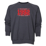 FC Santa Claus Established 1992 Men's Crewneck Fleece (Dark Grey)