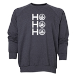 FC Santa Claus Ho, Ho, Ho Men's Crewneck Fleece (Dark Grey)