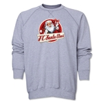 FC Santa Claus Animated Santa Men's Crewneck Fleece (Grey)