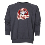 FC Santa Claus Animated Santa Men's Crewneck Fleece (Dark Grey)
