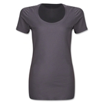 Women's Scoopneck T-Shirt (Dark Gray)