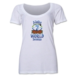 Aloha World Sevens Women's Scoop Neck T-Shirt (White)