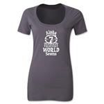 Aloha World Sevens Women's Scoop Neck T-Shirt (Dark Grey)