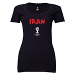 Iran 2014 FIFA World Cup Brazil(TM) Women's Core Scoopneck T-Shirt (Black)