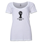 2014 FIFA World Cup Brazil(TM) Women's Official Emblem Scoopneck T-Shirt (White)