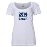 2014 FIFA World Cup Brazil(TM) Women's Official Logotype Scoopneck T-Shirt (White)