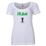 Iran 2014 FIFA World Cup Brazil(TM) Women's Core Scoopneck T-Shirt (White) Scoopneck T-Shirt (Dark Grey)