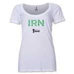 Iran 2014 FIFA World Cup Brazil(TM) Women's Elements Scoopneck T-Shirt (White) Scoopneck T-Shirt (Dark Grey)