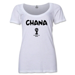 Ghana 2014 FIFA World Cup Brazil(TM) Women's Core Scoopneck T-Shirt (White)