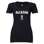 Algeria 2014 FIFA World Cup Brazil(TM) Women's Core Scoopneck T-Shirt (Black)