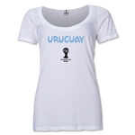 Uruguay 2014 FIFA World Cup Brazil(TM) Women's Core Scoopneck T-Shirt (White)