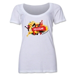 Belgium 2014 FIFA World Cup Brazil(TM) Women's Celebration Scoopneck T-Shirt (White)