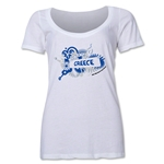 Greece 2014 FIFA World Cup Brazil(TM) Women's Celebration Scoopneck T-Shirt (White)