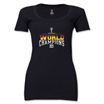 Germany 2014 FIFA World Cup Brazil(TM) Women's World Champions Scoopneck T-Shirt (Black)