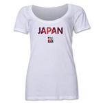 Japan FIFA Women's World Cup Canada 2015(TM) Women's Scoopneck T-Shirt (White)