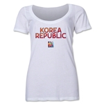 South Korea FIFA Women's World Cup Canada 2015(TM) Women's Scoopneck T-Shirt (White)