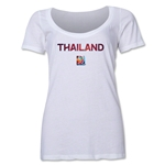 Thailand FIFA Women's World Cup Canada 2015(TM) Women's Scoopneck T-Shirt (White)