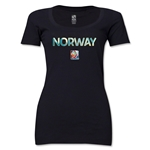Norway FIFA Women's World Cup Canada 2015(TM) Women's Scoopneck T-Shirt (Black)