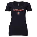 Germany FIFA Women's World Cup Canada 2015(TM) Women's Scoopneck T-Shirt (Black)