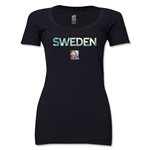 Sweden FIFA Women's World Cup Canada 2015(TM) Women's Scoopneck T-Shirt (Black)