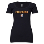 Colombia FIFA Women's World Cup Canada 2015(TM) Women's Scoopneck T-Shirt (Black)