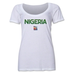 Nigeria FIFA Women's World Cup Canada 2015(TM) Women's Scoopneck T-Shirt (White)