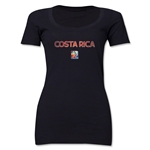 Costa Rica FIFA Women's World Cup Canada 2015(TM) Women's Scoopneck T-Shirt (White)