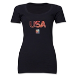 USA FIFA Women's World Cup Canada 2015(TM) Women's Scoopneck T-Shirt (White)