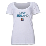 New Zealand FIFA Women's World Cup Canada 2015(TM) Women's Scoopneck T-Shirt (White)