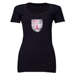 Pink FC Women's Scoopneck T-Shirt (Black)